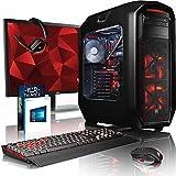 VIBOX Species-X GL580-690 Gaming PC Computer mit Spiel Bundle, Windows 10 OS, 28 Zoll 4K Monitor (4,3GHz Intel i5 6-Core, ASUS Strix GeForce GTX 1080 Grafikkarte, 16Go DDR4 RAM, 960GB SSD, 3TB HDD)