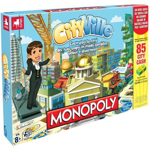 Hasbro Monopoly CityVille - Juego Mesa Italiano [Importado