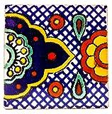 mexikanische Fliesen 5x5cm - Keramik handgefertigt - Fair Trade (Cenefa)
