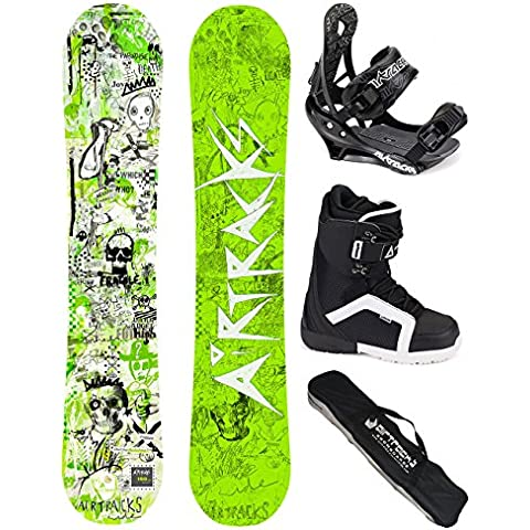 AIRTRACKS SNOWBOARD SET - TABLA DREAMCATCHER WIDE (HOMBRE) 153 - FIJACIONES SAVAGE - BOTAS SAVAGE QL 43 - SB BOLSA/