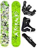 AIRTRACKS SNOWBOARD SET - WIDE BOARD DREAMCATCHER 150 - SOFTBINDUNG SAVAGE - SOFTBOOTS SAVAGE QL 40 - SB BAG