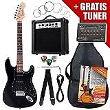 Rocktile ST Power Pack chitarra elettrica Amplificatore custodia tracolla nera