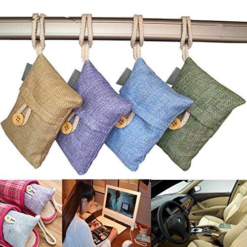 ALLUCKY Ambientador de bambú con carbón Activo, purificador de Aire, purificador de carbón Vegetal...