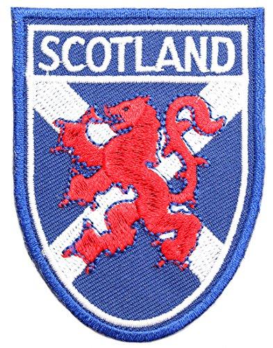 Scottish St. Andrews Saltire Flag with Lion Rampant