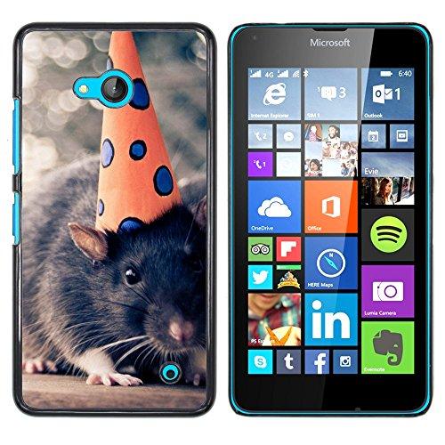 OB-star ( Rata divertida ) NOKIA Lumia 640 Impreso Colorido Protector Duro Espalda Funda Piel De Shell