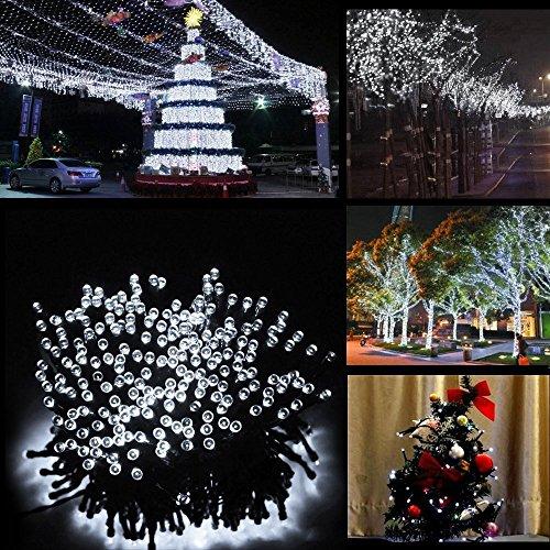 Solar Lichterkette LED Außen Warmweiß 22m 200LED 8 Modi Außenlichterkette Wasserdicht mit Lichtsensor Weihnachtsbeleuchtung Beleuchtung für Weihnachten [Energieklasse A++] (200 LED kaltweiß)