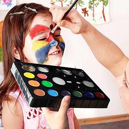 InnooBaby Pintura Cara 12 Colores  2 Purpurinas  3 Pinceles  2 Esponjas  Maquillaje Niños Infántil No Pica para Hallowen  Carnaval  La Semana Santa  Fiestas  Cumpleaños  Discoteca  Navidad  etc.