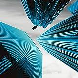 Artland Kunstdruck I Poster Ray Wolkenkratzer Petrol Architektur Gebäude Wolkenkratzer Fotografie Blau A7PQ