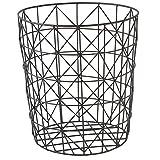 Wäschekorb schwarz Draht Mesh Geometrische Modern Stil,