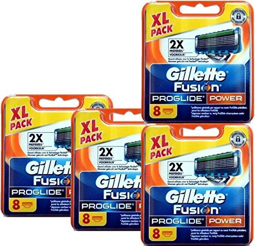8 | 16 | 32 Klingen Gillette Fusion, Fusion Power, ProGlide oder Proglide Power Rasierklingen (Gillette Fusion Proglide Power, 32 Klingen)