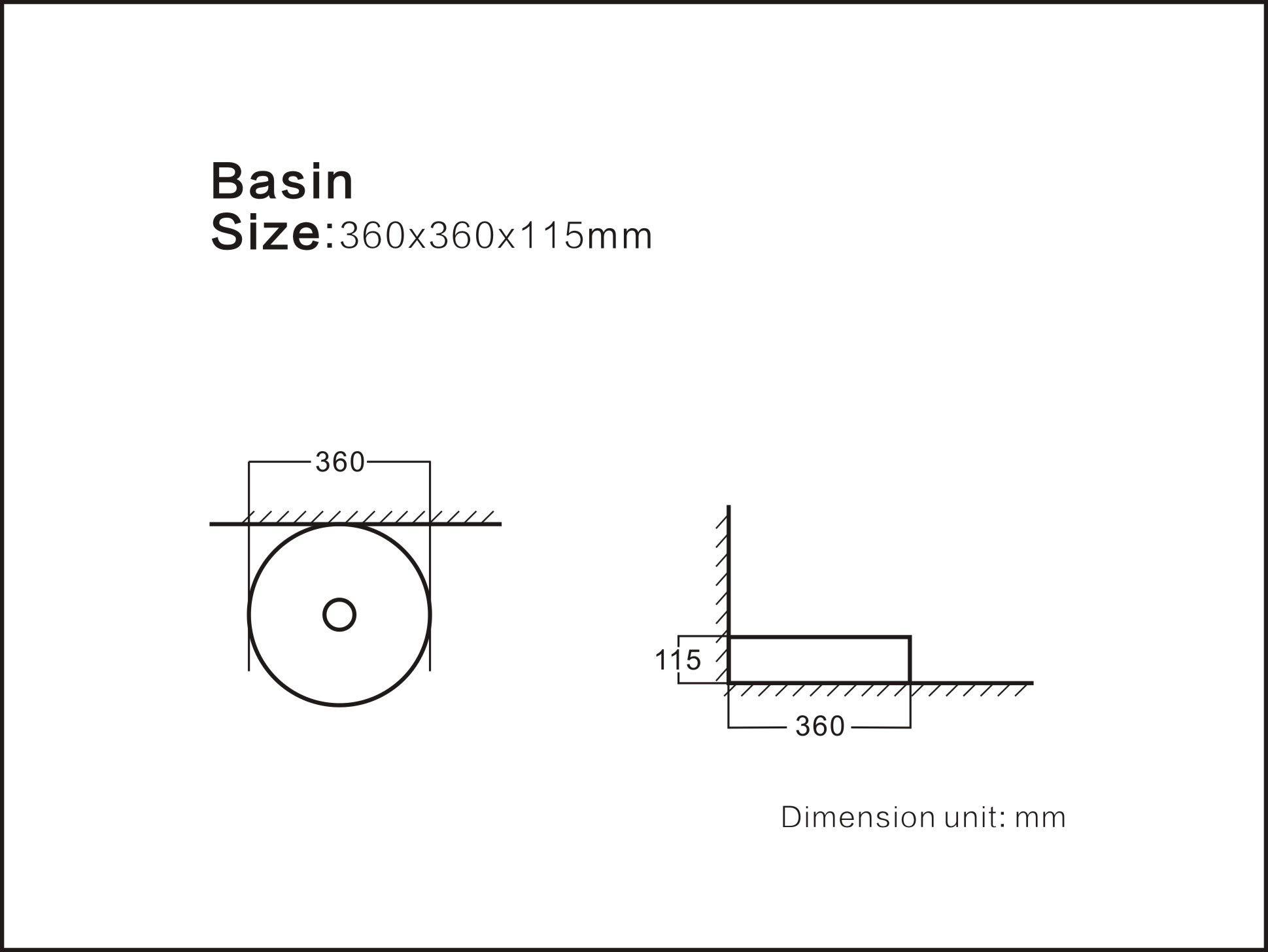 STARBATH PLUS Lavabo De Cer/ámica Sobre Encimera Forma C/írculo Blanco Brillo 35 x 35 x 12 cm SFINCIL