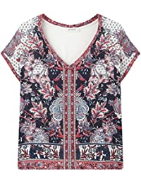 Promod Shirt aus Materialmix