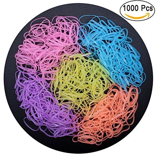 hollihi 1000pcs Boutique Baby Mädchen Haargummis–dehnbar Elastic Haar Seilen Gummi Bands-Styling-Zubehör für Kleinkinder Kids Teens