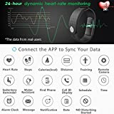 JoyGeek Fitness Tracker Heart Rate Monitor Bluetooth Smart Watch With Weather Report Sleep Monitor Pedometer Calorie Counter And CallSMS Reminder For IPhone 66 Plus77 Plus Samsung S7note 7S8