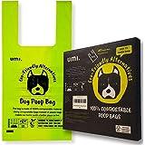 Amazon Brand - Umi Bolsas para Excrementos de Perro Biodegradables - Origen Vegetal, Compostaje Casero, Sin Microplásticos, S