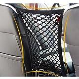 Raiphy Auto Organizer Dual Layer Mesh Organizer Autositz Storage Mesh Netz Tasche Gepäck Halter (Schwarz)