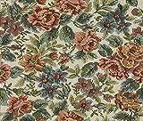 Möbelstoff Marc 532 Blumenmuster Farbe Multicolor als robuster Bezugsstoff, Polsterstoff bunt geblümt zum Nähen und Beziehen, Polyester, Baumwolle
