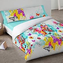 Burrito Blanco - Juego de Funda nórdica 096 para cama 90x190/200 cm, color único