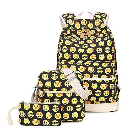 Imagen de tibes  de lona linda funny  emoji para niñas amarillo 3 piezas