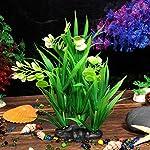 Oshide Artificial Flower Water Plants Aquarium Fish Tank Long Leaf Plastic Decoration Ornament 7