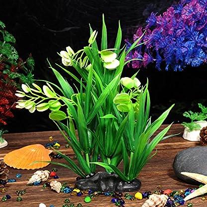 Oshide Artificial Flower Water Plants Aquarium Fish Tank Long Leaf Plastic Decoration Ornament 2