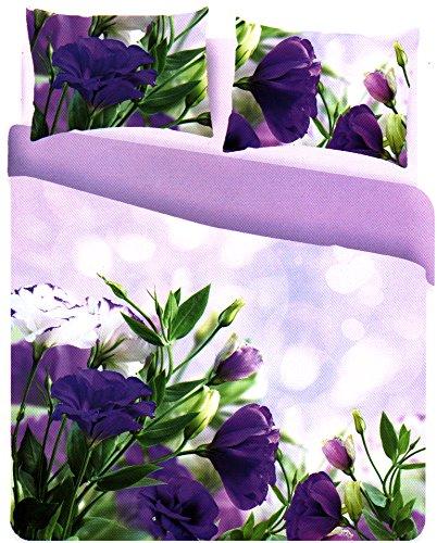 Parure letto copripiumino 100% cotone stampa digitale matrimoniale due 2 piazze copri piumone (fleur)