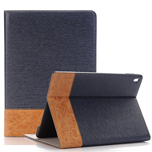 PU Cover For iPad Pro ,TechCode Luxury Book Style Folio Case Cover Stand Magnetic PU Leather with Smart Auto Sleep/Wake Feature Case Cover for Apple iPad Pro 9.7 inch Test