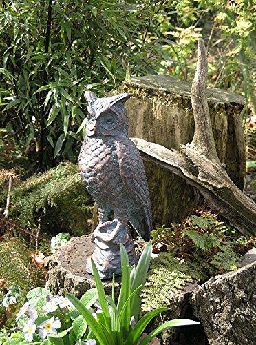 Garten Skulptur eine lange Ohren Eule Hand in beendet eine Antik Bronze ()