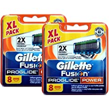 Gillette - Cuchillas (8, 16, 32unidades, para Gillette Fusion, Fusion Power, ProGlide o ProGlide Power)