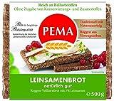 PEMA  Leinsamenbrot 6x500g, Roggenvollkornbrot mit 5% Leinsamen, 1er Pack (1 x 3000 g)