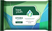 Kaya Youth Hydro Replenish Gentle Cleansing Wet Face Wipes With Aloe Vera, Remove Dirt, Oil, Pollutants, 24 Hours Hydrated S
