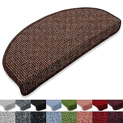 Stufenmatten London 15er SparSet 11 Farben sauber eingekettelt, starke Befestigung, stabile Winkelschiene