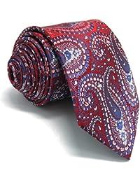 Shlax Wing Hombre Boda Seda Corbatas Para único Rosa Cachemir Extra largo  flaca 15501f07146
