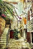 Postereck - 0115 - Mediterranes Dorf, Gemälde - Poster 3:2 - 61.0 cm x 40.5 cm