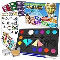 ARTOYS Pittura Viso Bambini Trucco Face Paint Body Painting Sicuri Non Tossici e Lavabili 12 Colori Kit Trucco Viso per Compleanno,Pasqua,Carnevale,Natale,Halloween