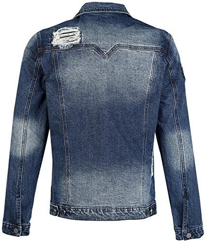 Rock Rebel by EMP Destroyed Denim Jacket Veste Jean bleu Bleu