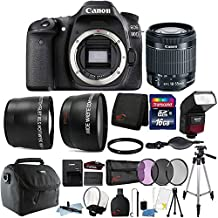 Canon Eos 80D 24.2MP Digital SLR Camera With 18-55mm Lens, TTL Flash And 16GB Accessory Bundle
