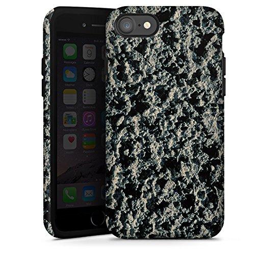 Apple iPhone X Silikon Hülle Case Schutzhülle Lavastein Struktur Stein Muster Tough Case glänzend
