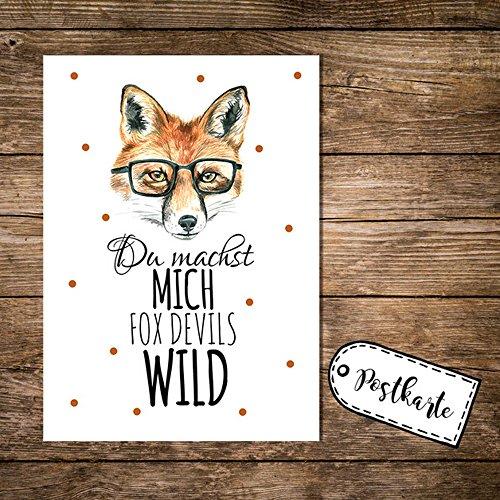 ilka-parey-wandtattoo-weltr-a6-postkarte-karte-print-fuchs-mit-spruch-du-machst-mich-fox-devils-wild