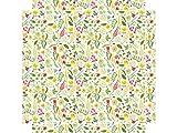 YOURDEA - Tattoo Möbel Aufkleber für IKEA Lack Tisch Couchtisch Beistelltisch Motiv mit Motiv: Frühlingsblumen inklusive Rakel