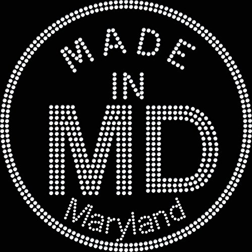 Twisted Envy Made in MD Maryland motivo diamante strass, trasferimento