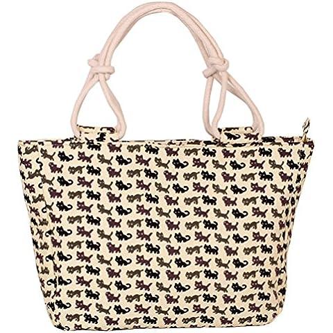 Swesy nuovo modo stampato spalla delle donne borse borsa Canvas