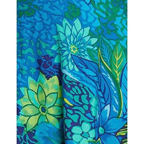 Damen Bekleidung Baumwolle gedruckt mittellanger Rock a-Linie Blue 3
