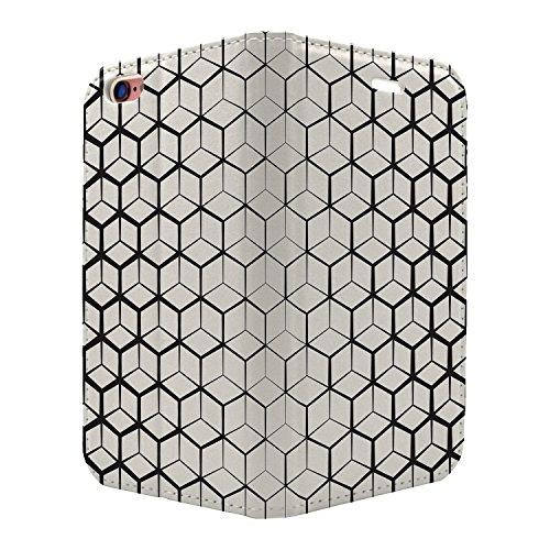 Abstraktes geometrisches Muster Full Flip Case Schutzhülle für für Apple iPhone 8–S4862Energiesparlampen