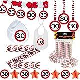 Deko Set 42 tlg. 30.Geburtstag Party Box Dekoration Glitter Girlande Luftballons