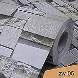 LZYMLG Carta da parati strutturata d'annata 3D dei mattoni per i rotoli della carta da parete impressi decorazione domestica per il fondo del sofà TV del salone della camera da lettoZW-05