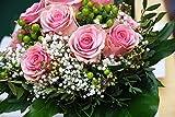 Blumen-Senf Rosenstrauß - Sie wählen die Anzahl der Rosen und der Farbe + gratis Glückwunschkarte (rosa Rosen)