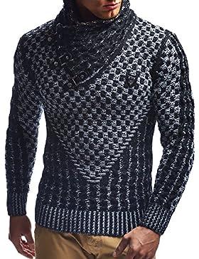 [Sponsorizzato]LEIF NELSON - Maglione da uomo, Pullover, LN5255