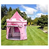 KiddyPlay Deluxe Pink Pop-Up Castle Play Tent