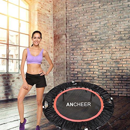 Ancheer Trampolin, Indoor Trampolin mit Handgriffe, Ideal für Fitness Heimtraining (Klappbares Trampolin) - 7